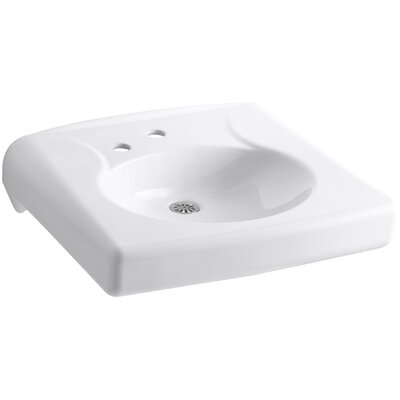 Brenham Ceramic 22 Wall Mount Bathroom Sink Finish: White