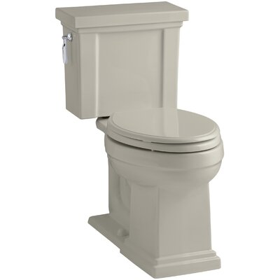 Tresham Comfort Height 1.28 GPF Elongated Two-Piece Toilet Finish: Sandbar