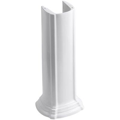 Portrait Bathroom Sink Pedestal Finish: White