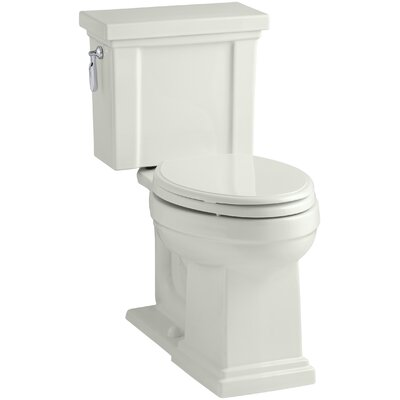 Tresham Comfort Height 1.28 GPF Elongated Two-Piece Toilet Finish: Dune