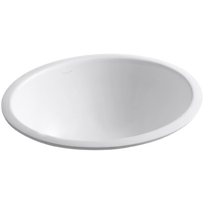 Caxton Ceramic Oval Undermount Bathroom Sink with Overflow Sink Finish: White