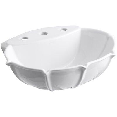 Anatole Ceramic 22 Pedestal Bathroom Sink Finish: White