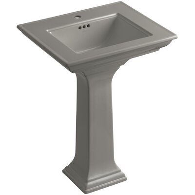 Memoirs� Ceramic 25 Pedestal Bathroom Sink with Overflow Finish: Cashmere, Faucet Hole Style: Single