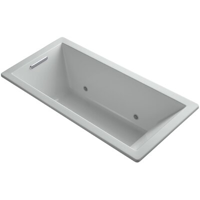Underscore Vibracoustic 66 x 32 Whirpool Bathtub Finish: Ice Grey