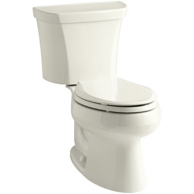 Wellworth Two-Piece Elongated Dual-Flush Toilet with Right-Hand Trip Lever Finish: Biscuit