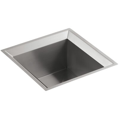 Poise Under-Mount Single-Bowl Bar Sink with Mirror Finish Finish: Standard