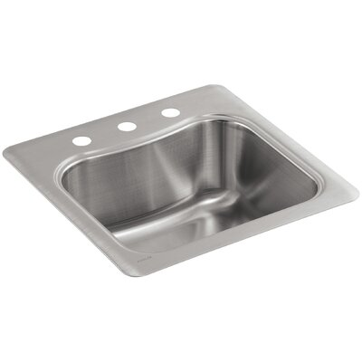 Staccato Top-Mount Single-Bowl Bar Sink with 3 Faucet Holes