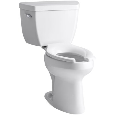 Highline Classic Comfort Height Two-Piece Elongated 1.6 GPF Toilet with Pressure Lite Flush Technology and Left-Hand Trip Lever Finish: White
