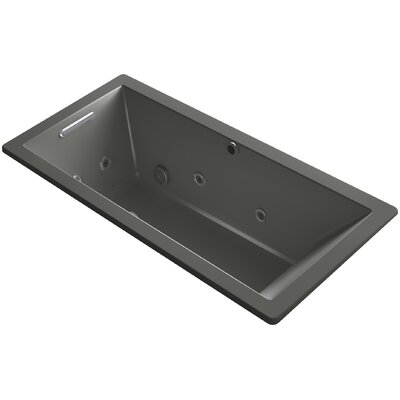 Underscore 66 x 32 Air / Whirlpool Bathtub Finish: Thunder Grey