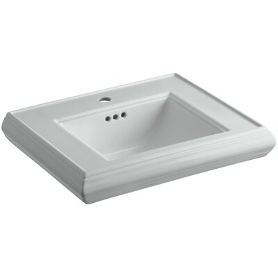 Memoirs� Ceramic 24 Pedestal Bathroom Sink with Overflow Finish: Ice Grey, Faucet Hole Style: Single
