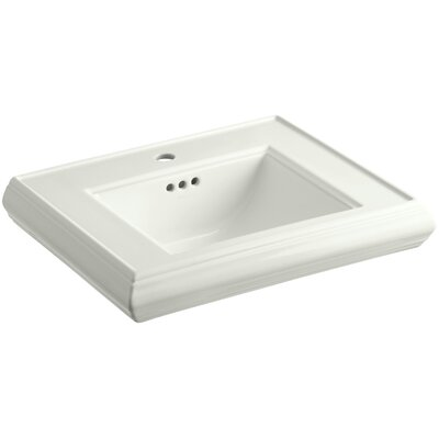 Memoirs� Ceramic 24 Pedestal Bathroom Sink with Overflow Finish: Dune, Faucet Hole Style: 4Centerset