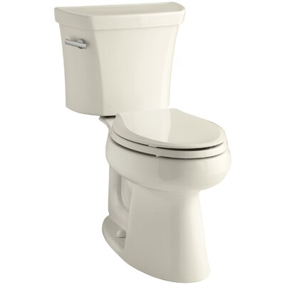 Highline Comfort Height Two-Piece Elongated 1.28 GPF Toilet with Class Five Flush Technology and Left-Hand Trip Lever Finish: Almond
