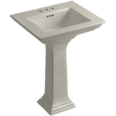 Memoirs 27 Wall Mount Bathroom Sink Finish: Sandbar, Faucet Hole Style: 4Centerset