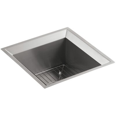 Poise Under-Mount Bar Sink - Includes Bottom Bowl Rack and Cutting Board Finish: Standard