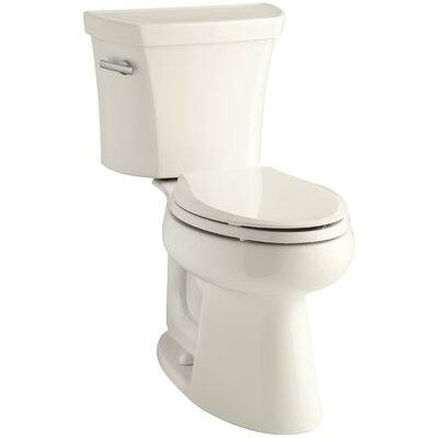 Highline Comfort Height Two-Piece Elongated 1.28 GPF Toilet with Class Five Flush Technology, Left-Hand Trip Lever and Insuliner Tank Liner Finish: Biscuit