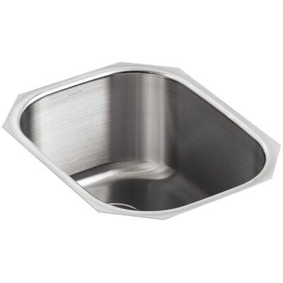 Undertone 15-1/2 x 19-5/8 x 9-1/2 Under-Mount Round Single-Bowl Kitchen Sink