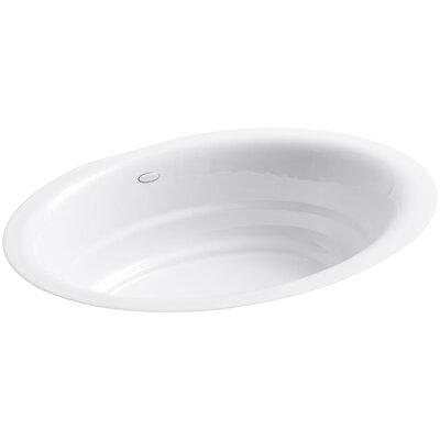 Garamond Metal Oval Undermount Bathroom Sink Sink Finish: White
