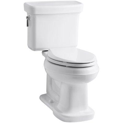 Bancroft Comfort Height Two-Piece Elongated 1.28 GPF Toilet with Aquapiston Flush Technology Finish: White