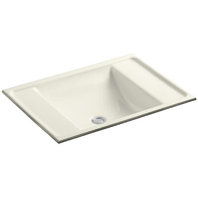 Alteo Metal Rectangular Undermount Bathroom Sink with Overflow Sink Finish: Biscuit