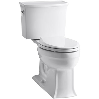 Archer 2 Piece Elongated Toilet with Aquapiston Flush Technology Finish: White
