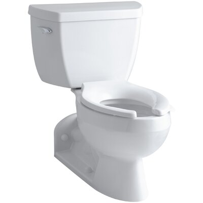 Barrington Two-Piece Elongated 1.6 GPF Toilet with Pressure Lite Flushing Technology and Left-Hand Trip Lever Finish: White