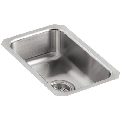 Undertone 10-3/4 x 17-1/2 x 5-5/8 Small Squared Under-Mount Single-Bowl Kitchen Sink