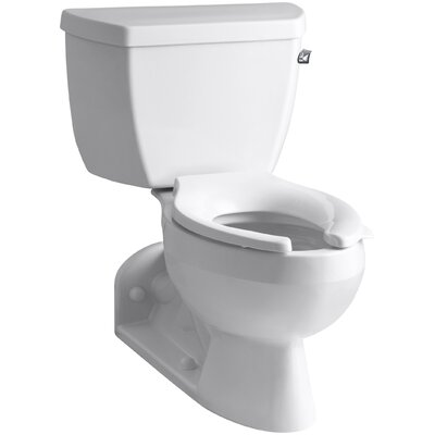 Barrington Two-Piece Elongated 1.6 GPF Toilet with Pressure Lite Flushing Technology and Right-Hand Trip Lever Finish: White