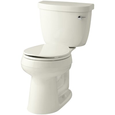 Cimarron Comfort Height Two-Piece Round-Front 1.28 GPF Toilet with Aquapiston Flush Technology, Right-Hand Trip Lever and Insuliner Tank Liner Finish: Biscuit