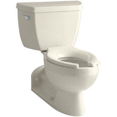 Barrington Twopiece Elongated 16 Gpf Toilet With Pressure Lite Flushing Technology Lefthand Trip Lever And Toilet Tank Locks Finish White image