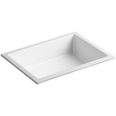 Verticyl Rectangular Undermount Bathroom Sink with Overflow Sink Finish: Honed White