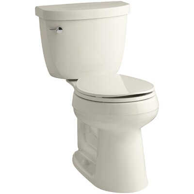 Cimarron Comfort Height Two-Piece Round-Front 1.6 GPF Toilet with Aquapiston Flush Technology and Left-Hand Trip Lever Finish: Almond