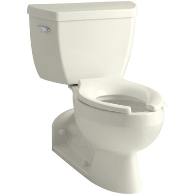 Barrington Two-Piece Elongated 1.6 GPF Toilet with Pressure Lite Flushing Technology and Left-Hand Trip Lever Finish: Biscuit