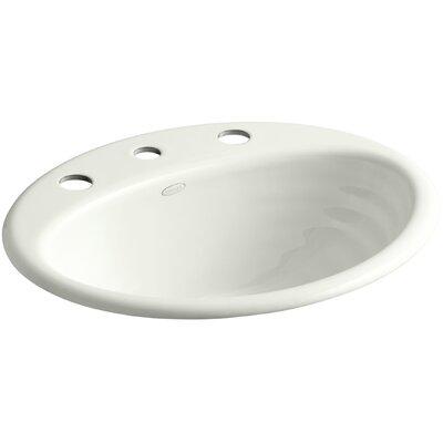 Ellington Metal Oval Drop-In Bathroom Sink with Overflow Finish: Dune