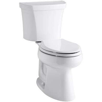 Highline Comfort Height Two-Piece Elongated 1.28 GPF Toilet with Class Five Flush Technology and Right-Hand Trip Lever Finish: White