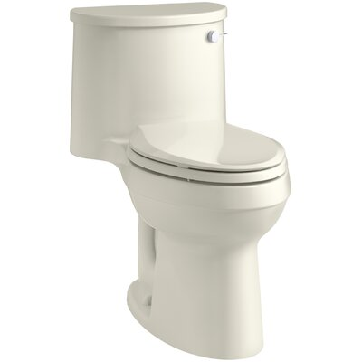 Adair Comfort Height 1.28 GPF Round One-Piece Toilet Finish: Biscuit