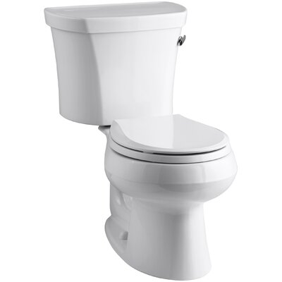 Wellworth Two-Piece Round-Front 1.28 GPF Toilet with Class Five Flush Technology and Right-Hand Trip Lever Finish: White