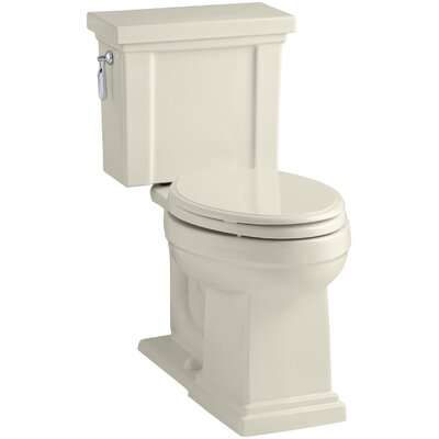 Tresham Comfort Height 1.28 GPF Elongated Two-Piece Toilet Finish: Almond