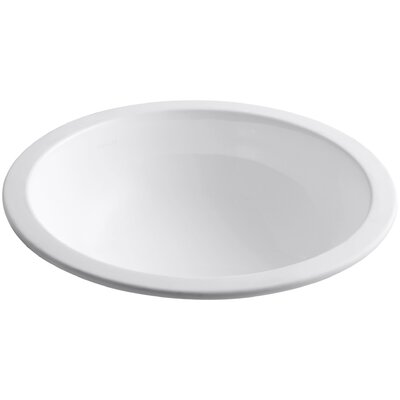 Camber Ceramic Circular Undermount Bathroom Sink Sink Finish: White
