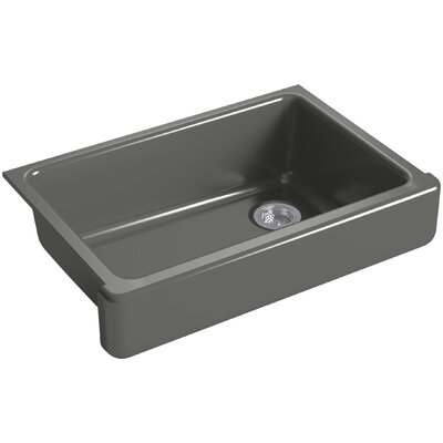 Whitehaven Self-Trimming 32-1/2 x 21-9/16 x 9-5/8 Under-Mount Single-Bowl Sink with Short Apron Finish: Thunder Grey