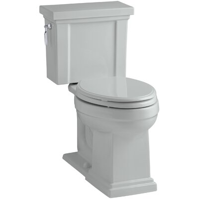 Tresham Comfort Height 1.28 GPF Elongated Two-Piece Toilet Finish: Ice Grey
