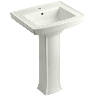 Archer Pedestal Bathroom Sink Finish: Dune, Faucet Hole Style: Single