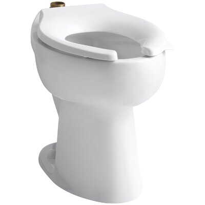 Highcliff 1.6 GPF 17-1/2 Ada Elongated Toilet Bowl with Top Inlet and 4 Bolt Holes In Base