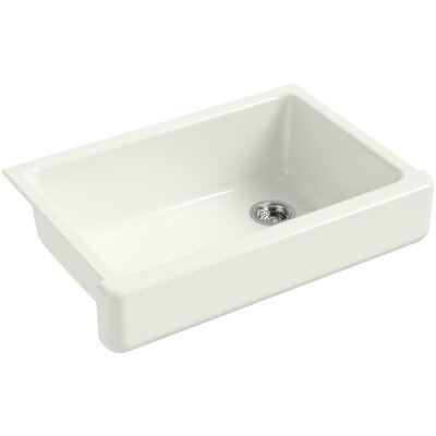 Whitehaven Self-Trimming 32-1/2 x 21-9/16 x 9-5/8 Under-Mount Single-Bowl Sink with Short Apron Finish: Dune