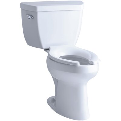 Highline Classic Comfort Height Two-Piece Elongated 1.0 GPF Toilet with Pressure Lite Flushing Technology and Tank Cover Locks Finish: White