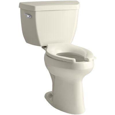Highline Classic Comfort Height Two-Piece Elongated 1.0 GPF Toilet with Pressure Lite Flushing Technology Finish: Almond