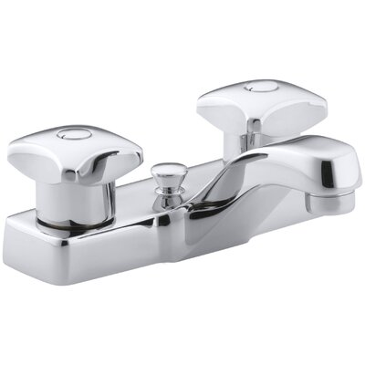 Triton Centerset Commercial Bathroom Sink Faucet with Pop-Up Drain and Standard Handles