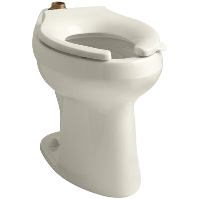 Highline 1.6 or 1.28 GPF Flushometer Valve Comfort Height Ada Elongated Toilet Bowl, Requires Seat Finish: Almond