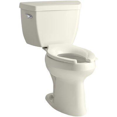 Highline Classic Comfort Height Two-Piece Elongated 1.0 GPF Toilet with Pressure Lite Flushing Technology Finish: Biscuit