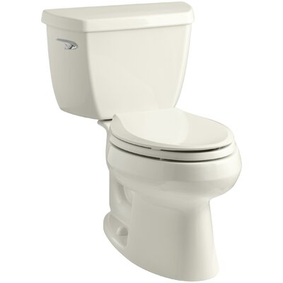 Wellworth Classic Two-Piece Elongated 1.28 GPF Toilet with Class Five Flush Technology, Left-Hand Trip Lever and Tank Cover Locks Finish: Biscuit