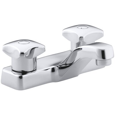 Triton Centerset Commercial Bathroom Sink Faucet with Standard Handles, Drain Not Included
